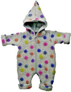 Baby-Overall Wollwalk Wollanzug Grau Gepunktet - Trocadero warm handgemacht