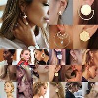 Fashion Boho Womens Geometric Circle Ear Stud Drop Dangle Earrings Multi Designs