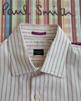 "PAUL SMITH Men's SHIRT 15""  Collar - Beautiful Striped Fabric"