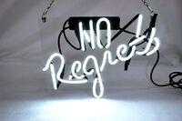 """12""""x10""""No Regrets Neon Sign Light Beer Bar Pub Home Room Wall Decor Visual Art"""