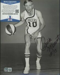 Rick Mount Indiana Pacers Signed 8x10 Photo AUTO Autograph Beckett BAS COA