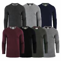 Brave Soul Prague Mens T-Shirt by Cotton Long Sleeved Crew Neck Casual Top