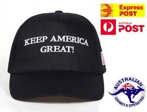 Black Trump Hat Keep Make America Great MAGA 2021 Cap Adjustable Aussie Seller