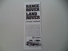 advertising Pubblicità 1979 RANGE ROVER e LAND ROVER