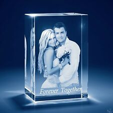 Laser Engraved 3D Crystal Personalized Engrave Gift Large Tower Shape