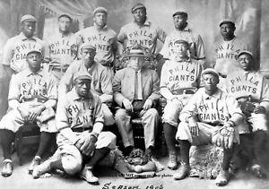 1906 Philadelphia Giants Team PHOTO Negro League Baseball Team Black Players
