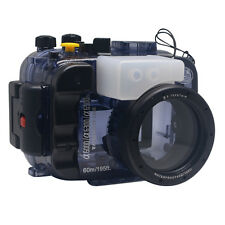 Mcoplus 60m/195ft Underwater Waterproof Camera Case for Sony A6000/A6300/A6500