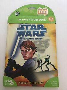 Leapfrog Tag Activity Storybook Star Wars The Clone Wars: Rescue In The Sky NEW