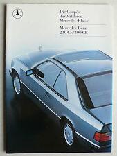 Prospekt Mercedes C 124 Coupès: 230 CE / 300 CE, 4.1987, 34 Seiten