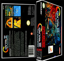 Contra 3 Alien Wars  - SNES Reproduction Art Case/Box No Game.