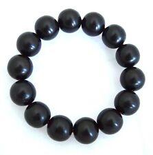 Genuine Black Wood Ebony Wood Bracelet Beads 16mm