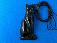 Egyptian Cat Goddess Bastet, Focal Bead Pendant, Necklace Centerpiece Pendant