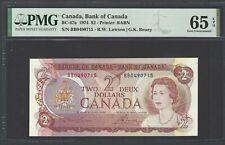 Canada  2 Dollars 1974 BC-47a Uncirculated Grade 65