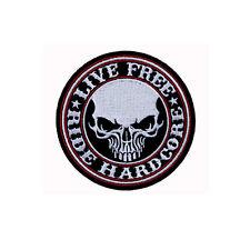 Chopper Forever IRON CROSS SKULL PATCH BADGE Biker tonaca aufbügler Harley