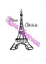 VINYL DECAL STICKER PARIS OHH LA LA..FRENCH...CAR TRUCK WINDOW