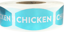 Chicken Meat Grocery Stickers, 0.75 x 1.375 Inches, 500 Labels on a Roll