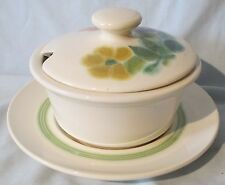 Franciscan Floral Green Rim Gravy Lid and Underplate