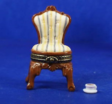 Chair and Cup of Coffee Phb Porcelain Hinged Box Midwest of Cannon Falls.