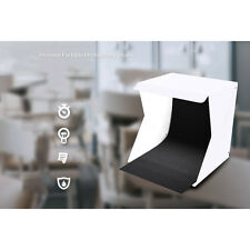 """Portable  9"""" Folding Lightbox Studio LED Photo Shoot Box for DSLR Smartphone PRO"""