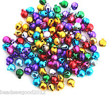 Approx 120 Small Mixed Colour CHRISTMAS JINGLE BELLS Charms 6mm Crafts