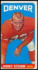 1965 TOPPS TALL BOYS FOOTBALL #64 JERRY STURM EX+ DENVER BRONCOS COL ILLINOIS