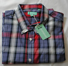 Men's SOUTHBAY  shirt check red -grey color size XL/XXL BNWT