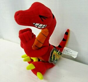 Meanies Velociraptor Series 2 Beanie Plush Pooping Toy Idea Factory Red Vtg 1998