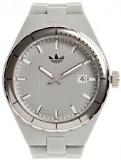 NEW ADIDAS GREY ACRYLIC+DATE CAMBRIDGE WATCH ADH2102