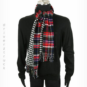 CHAPS by Ralph Lauren REVERSIBLE BLACK & WHITE Check SCARF or Multi-Color PLAID