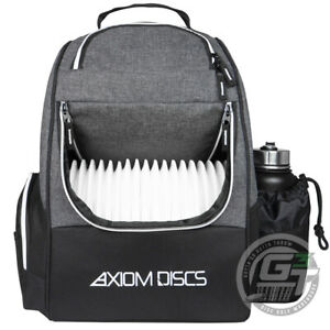 USED Axiom Discs SHUTTLE Backpack Disc Golf Bag NEEDS REPAIR - BLACK