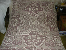 #353  Beautiful Vintage Handmade Coverlet 102''/75''(260cm/190cm)