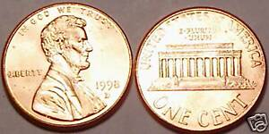 1998-D GEM BU LINCOLN CENT<VERY NICE>GREAT PRICE~FR/SHI
