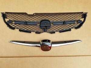 fits 2001-2003 ACURA MDX Front Bumper Grille & Chrome Molding Trim PAIR SET 2PC