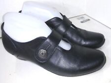 ZIERA Black Leather Mary Jane Comfort Size 37