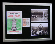WEST HAM 1964 FA CUP FINAL LIMITED Numbered FRAMED+EXPRESS GLOBAL SHIPPING