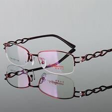 Oval half rimless Clear Lens Glasses Women Girl Fashion Metal Eyeglasses Frame