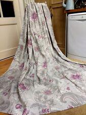 "Lined Laura Ashley Single Door Curtain 88""W x 90""L Baroque Pale Grape"