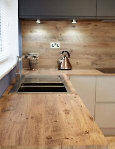 Mississippi Pine effect  Kitchen Worktop Laminate  3m x 600mm  40mm Square Edge.