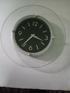 10 chrome plated glass Clock
