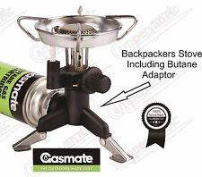 Gasmate    Backers Stove With Windshield & Butane Appliance Adaptor