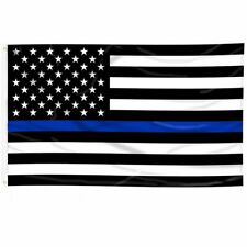 New 3x5' Usa Thin Blue Line Police Lives Matter Law Enforcement American Us Flag