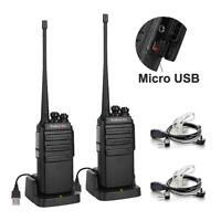 SALE 2Pack Radioddity GA-2S UHF HT VOX Scan Two way Radio Walkie Talkie US