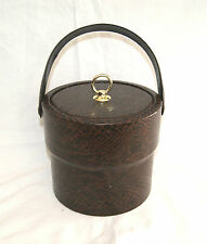 "Vintage Retro Man Cave Bar Hotel Ware Faux Alligator Skin Ice Bucket - 8 1/4"" W"