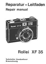 ROLLEI Repair Manual XF 35 film camera SERVICE MANUAL EXPLODED VIEWS PARTS on CD