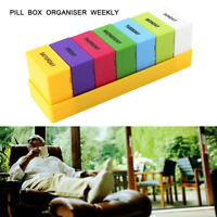 7 Day Large Print Pill Box Organiser holders Tablet Reminder Storage Case Weekly