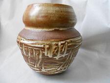 Vintage Rose Dodds Berkeley CA Sgraffito Modernist Crystalline Pottery Vase