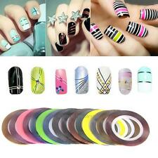 30pcs Mixed Colors DIY Rolls Striping Tape Line Nail Art Tips Decoration Sticker