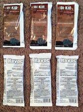 Havoc & Di-Kill bait packs poison pellets kill rats mice voles rodents 3pks ea
