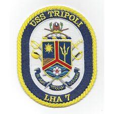 LHA-7 USS Tripoli Amphibious Assault Ship Crest Military Patch