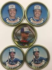 Topps Coins Coin Team Set 1987 1990 Toronto Blue Jays Barfield Bell Mcgriff